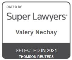 SuperLawyers badge valery nechay